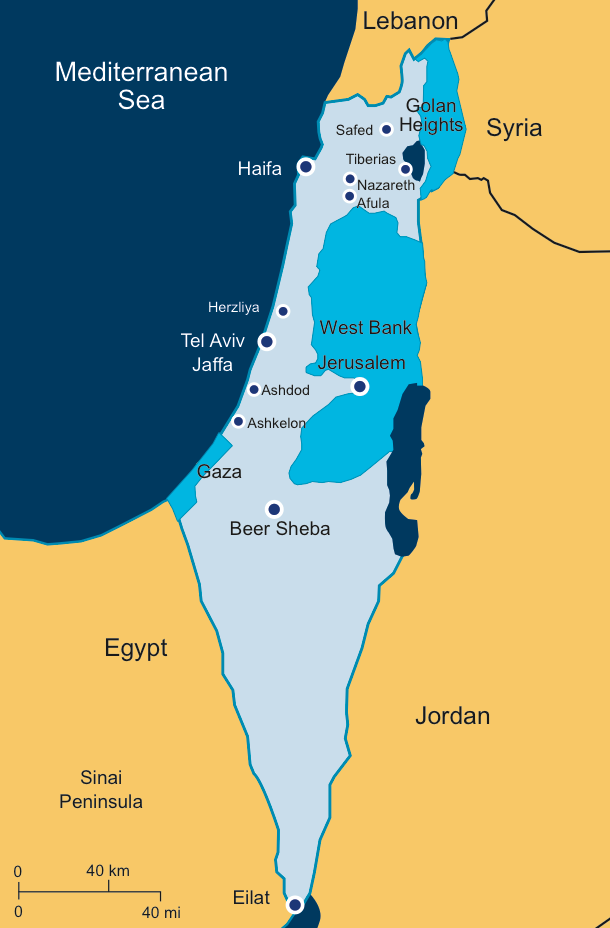 Israel Today BICOM - Map of israel today